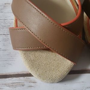 Cato Shoes - Cato brown and burnt orange wedges